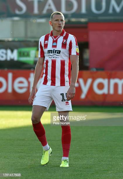 Will Boyle of Cheltenham Town in action during the Sky Bet League Two Play Off Semifinal 2nd Leg match between Cheltenham Town and Northampton Town...
