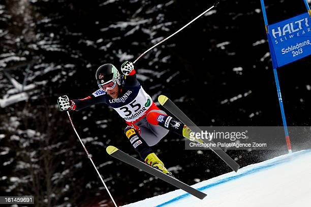 Will Brandenburg of the USA competes during the Audi FIS Alpine Ski World Championships Men's Super Combined on February 11 2013 in Schladming Austria