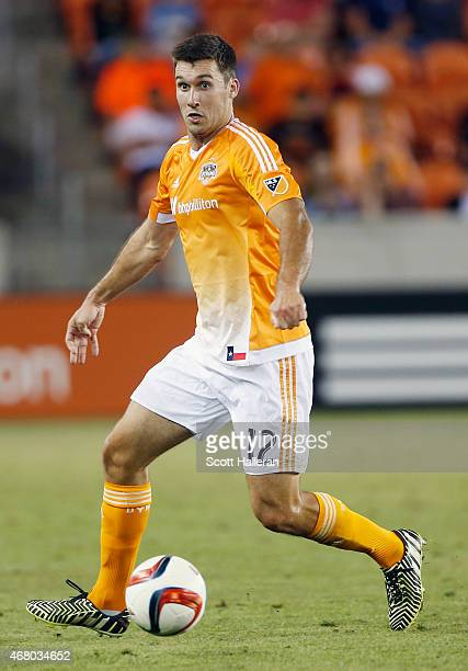 Will Bruin of the Houston Dynamo in action against the Colorado Rapids during their game at BBVA Compass Stadium on March 28 2015 in Houston Texas