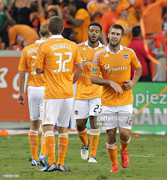 Will Bruin of the Houston Dynamo scored in the second half to give the Dynamo the lead against DC United during Leg 1 of the MLS Eastern Conference...