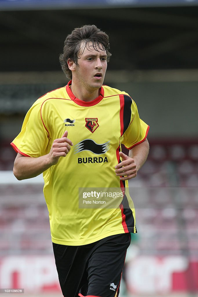 Will Buckley of Watford in action during the pre season match between Northampton Town and Watford at Sixfields Stadium on July 24, 2010 in Northampton, England.