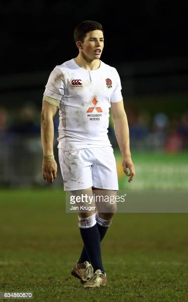 Will Butler of England during the U20 Six Nations match between Wales U20 and England U20 at Eirias Stadium on February 10 2017 in Colwyn Bay Wales