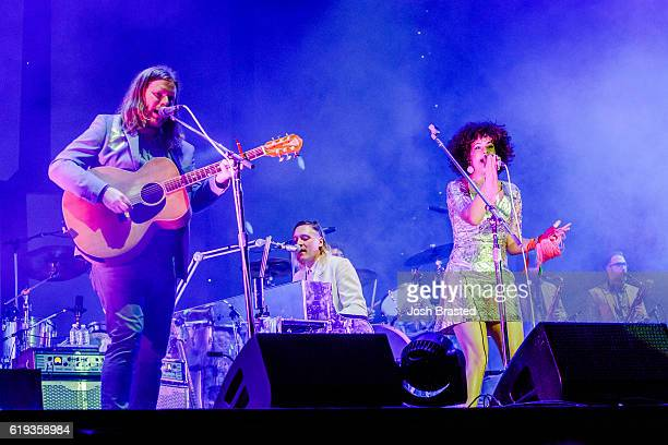 Will Butler Win Butler and Regine Chassagne of Arcade Fire perform at hte Voodoo Music Arts Experience at City Park on October 30 2016 in New Orleans...
