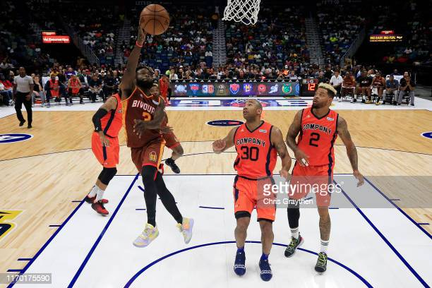 Will Bynum of Bivouac shoots the ball against 3's Company during the BIG3 Playoffs at Smoothie King Center on August 25, 2019 in New Orleans,...