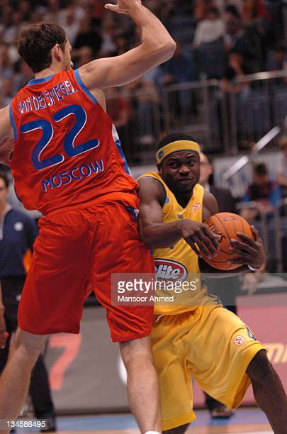 Will Bynum of Macabbi Tel Aviv tries to get by Tomas Van Den Spiegel of CSKA Moscow during the NBA Europe Live Tour presented by EA Sports on October...