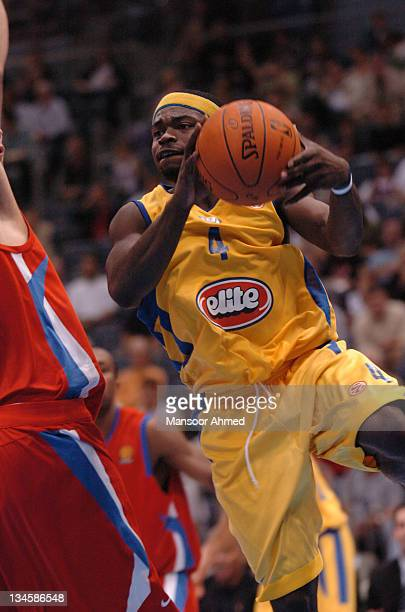 Will Bynum of Macabbi Tele Aviv in action during the NBA Europe Live Tour presented by EA Sports on October 10 2006 at the Koeln Arena in Cologne...