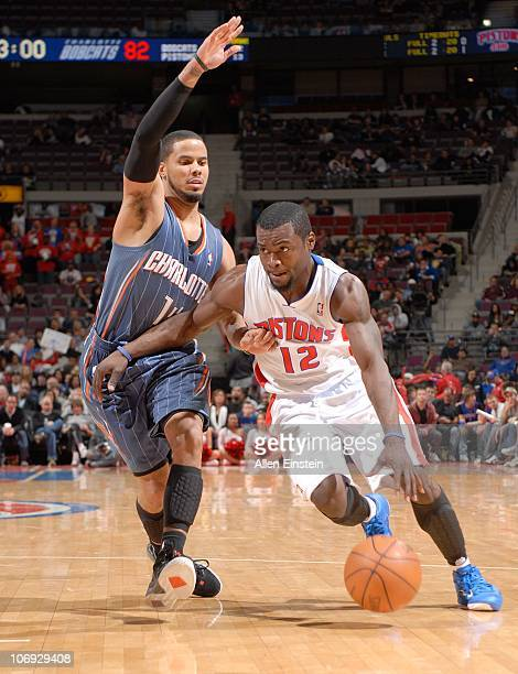 Will Bynum of the Detroit Pistons handles the ball during a game against the Charlotte Bobcats on November 5 2010 at The Palace of Auburn Hills in...