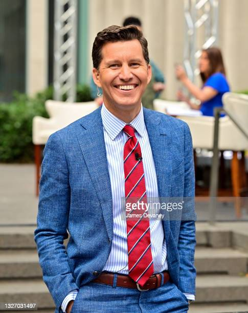 Will Cain celebrates Independence Day on 'Fox & Friends Weekend' on July 04, 2021 in New York City.