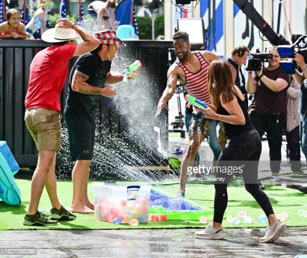 Will Cain, Pete Hegseth, Lawrence Jones and Rachel Campos-Duffy celebrate Independence Day on 'Fox & Friends Weekend' on July 04, 2021 in New York...