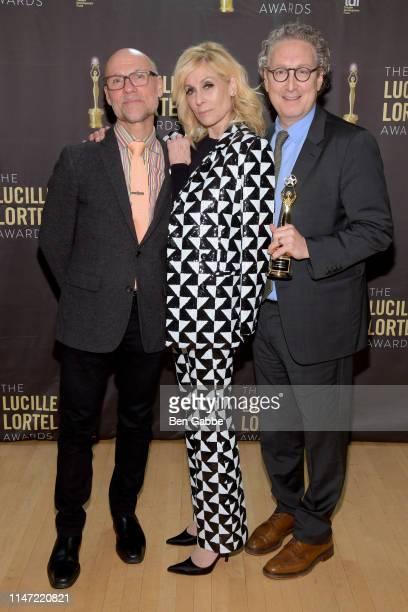 Will Cantler Judith Light and Bernie Telsey in the press room at the 34th Annual Lucille Lortel Awards on May 05 2019 in New York City