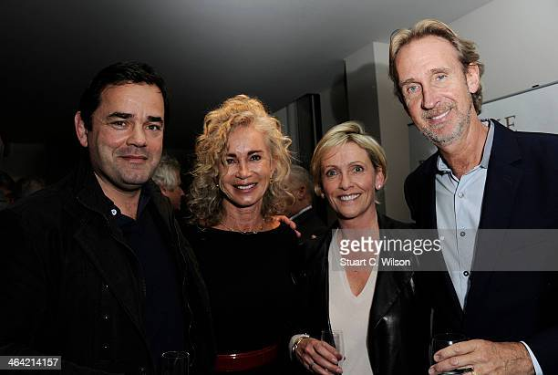Will Carling Angie Rutherford Lisa Carling and Mike Rutherford attend the launch party for Mike Rutherford's 'The Living Year's' at 1 Alfred Place on...