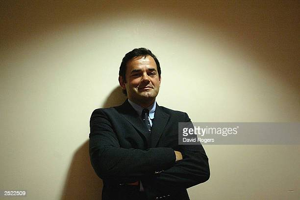 Will Carling the former England captain poses during the ITV Rugby World Cup 2003 coverage launch at The Stoop Ground on September 22 2003 in...