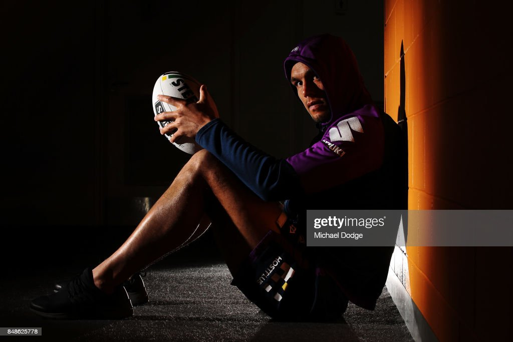 Will Chambers of the Storm poses during a Melbourne Storm NRL training session at AAMI Park on September 18, 2017 in Melbourne, Australia.