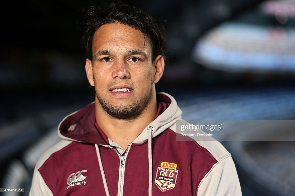 Will Chambers poses during the Queensland Maroons State of Origin team announcement at Melbourne Cricket Ground on June 9, 2015 in Melbourne, Australia.