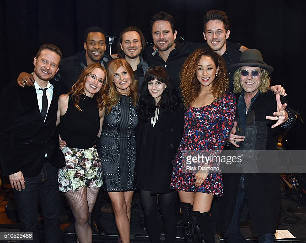 Will Chase Singer/Songwriter Ingrid Michaelson Connie Britton Aubrey Peeples and Chaley Rose with Big Kenny BACK ROW Singer/Songwriter Damien Horne...
