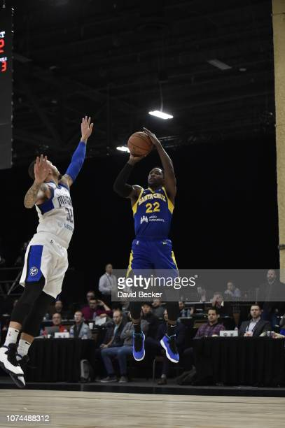 Will Cherry of the Santa Cruz Warriors shoots the ball against the Lakeland Magic during the NBA G League Winter Showcase on December 20, 2018 at...