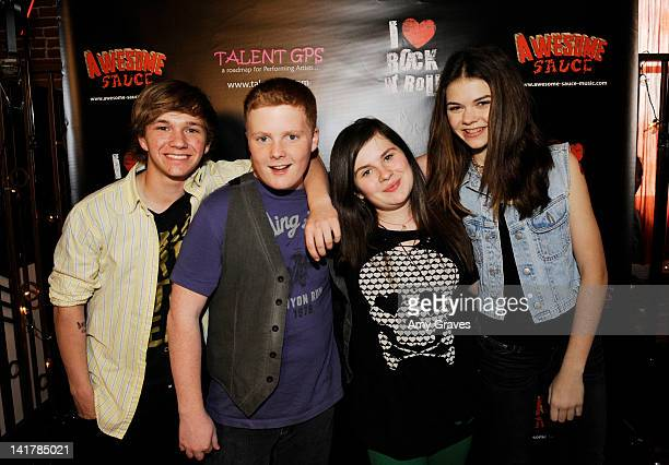 """Will Clay, Colin Huntley, Lauren Dair Owens and Lulu Cerone of """"Awesome Sauce"""" attend the Shamrock and Roll Concert for St. Jude Children's Hospital..."""