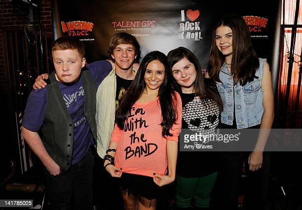 Will Clay, Colin Huntley, Mariel Fournier, Lauren Dair Owens and Lulu Cerone attends the Shamrock and Roll Concert for St. Jude Children's Hospital...