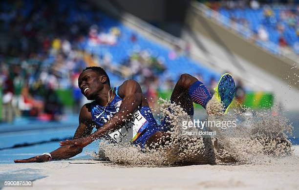 Will Claye of the United States competes in the Men's Triple Jump Final on Day 11 of the Rio 2016 Olympic Games at the Olympic Stadium on August 16,...