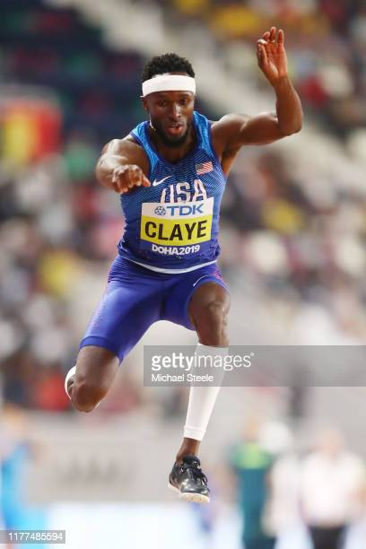 Will Claye of the United States competes in the Men's Triple Jump qualification during day one of 17th IAAF World Athletics Championships Doha 2019...
