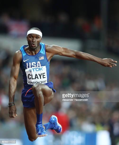 Will Claye of the United States competes in the mens triple jump final during day seven of the 16th IAAF World Athletics Championships London 2017 at...