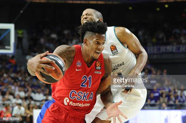 Will Clyburn #21 forward of CSKA Moscow during the 2017/2018 Turkish Airlines Euroleague Regular Season Round 2 game between Real Madrid and CSKA...