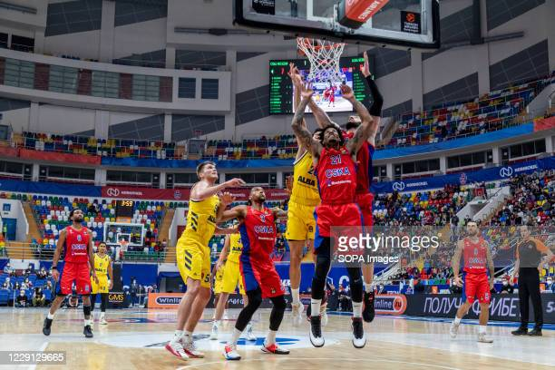 Will Clyburn #21 of CSKA Moscow in action against Alba Berlin during the Turkish Airlines EuroLeague Round 4 of 20202021 season at the Megasport...