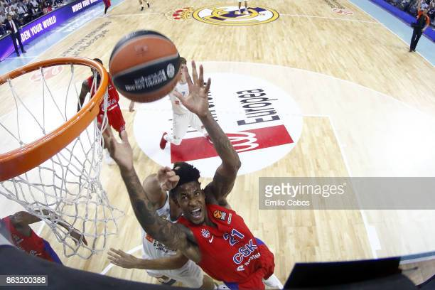 Will Clyburn #21 of CSKA Moscow in action during the 2017/2018 Turkish Airlines EuroLeague Regular Season Round 2 game between Real Madrid and CSKA...
