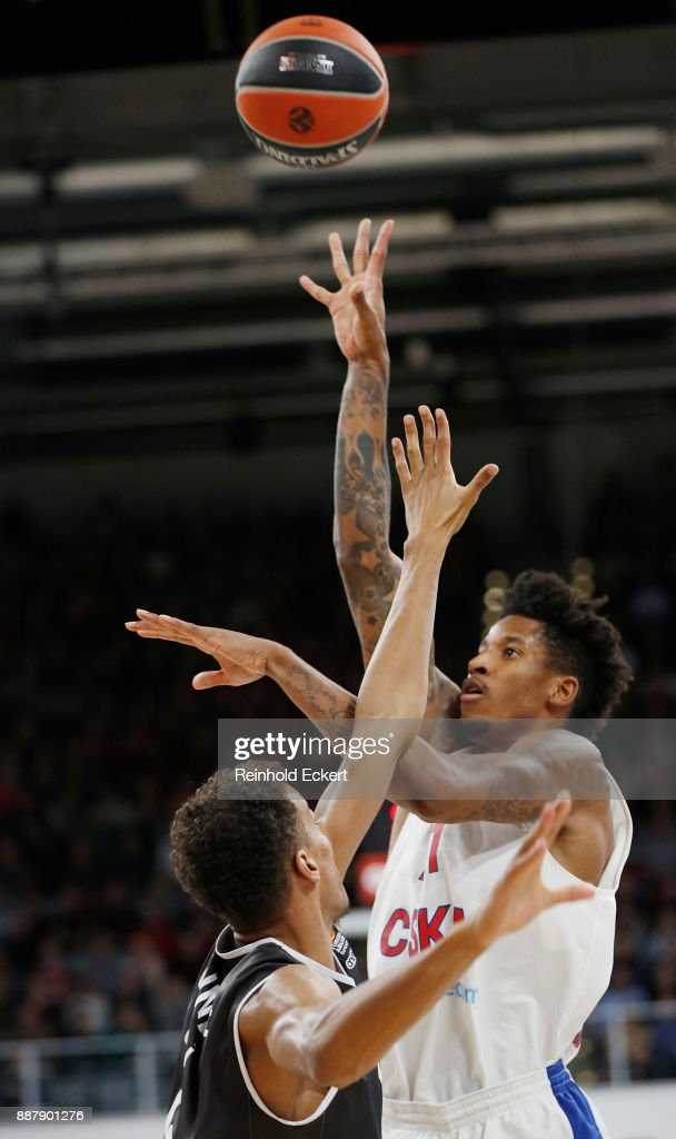 Will Clyburn, #21 of CSKA Moscow in action during the 2017/2018 Turkish Airlines EuroLeague Regular Season Round 11 game between Brose Bamberg and CSKA Moscow at Brose Arena on December 7, 2017 in Bamberg, Germany.
