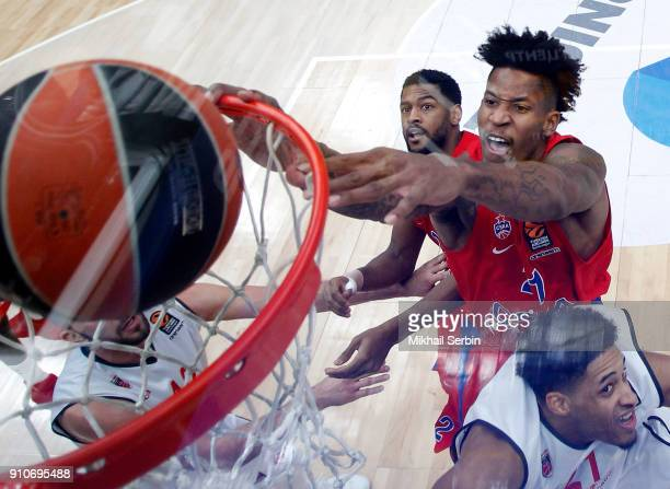 Will Clyburn #21 of CSKA Moscow in action during the 2017/2018 Turkish Airlines EuroLeague Regular Season Round 20 game between CSKA Moscow and Brose...