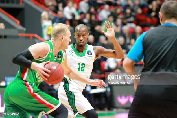 Will Clyburn of Darussafaka Dogus in action against Melvin Ejim of UNICS Kazan during the EuroCup basketball match between UNICS Kazan and...