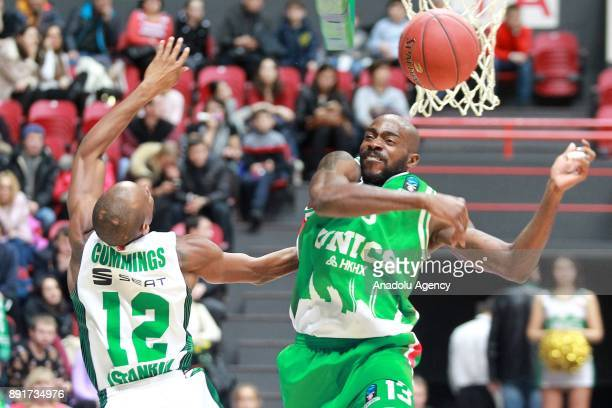 Will Clyburn of Darussafaka Dogus in action against Stephane Lasme of UNICS Kazan during the EuroCup basketball match between UNICS Kazan and...
