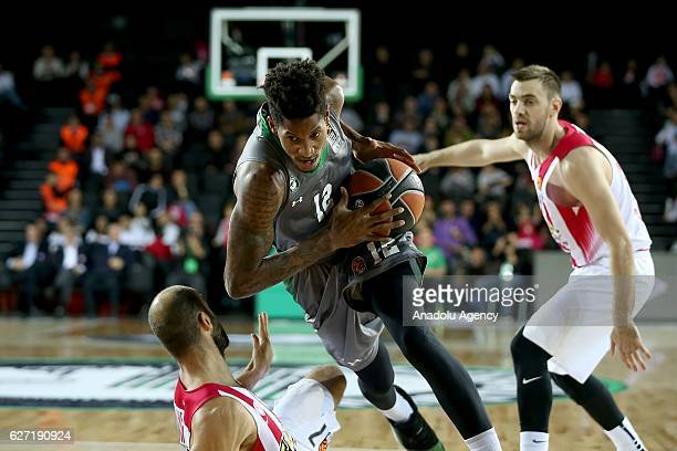 Will Clyburn of Darussafaka Dogus in action during the Turkish Airlines Euroleague basketball match between Darussafaka Dogus and Olympiacos at...