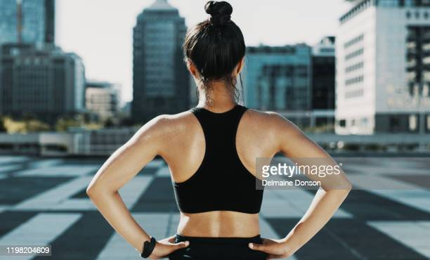 i will conquer anything that lies ahead - bra top stock pictures, royalty-free photos & images