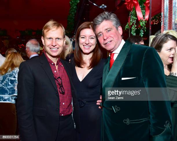 Will Cotton Rose Dergan and Jay McInerney attend A Christmas Cheer Holiday Party 2017 Hosted by George Farias and Anne and Jay McInerney at The...