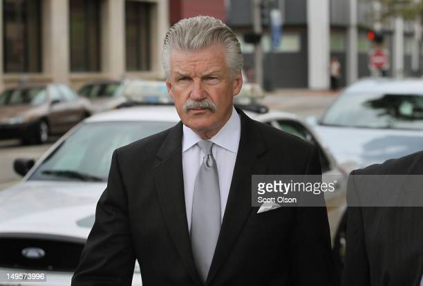 Will County State's Attorney James Glasgow arrives at the Will County Courthouse for opening arguments in the trial of Drew Peterson July 31 2012 in...