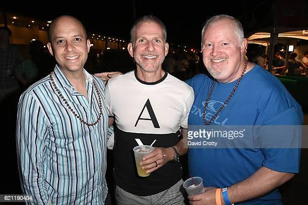 Will Crocket J Scott Evans and John Blackard attend Trevor Under The Stars Arrivals at Tahquitz Stage on November 4 2016 in Palm Springs California