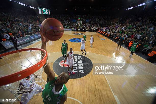 Will Cummings #12 of Darussafaka Istanbul in action during the 7DAYS EuroCup Basketball Finals game two between Darussafaka Istanbul v Lokomotiv...