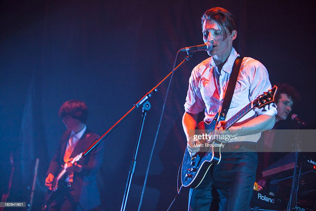 Will Daunt of Zulu Winter performs on stage at Hammersmith Apollo on March 1, 2013 in London, England.
