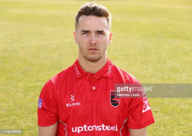 Will Davies of Leicestershire CCC pictured during the Leicestershire CCC Photocall at Grace Road on April 03 2019 in Leicester England