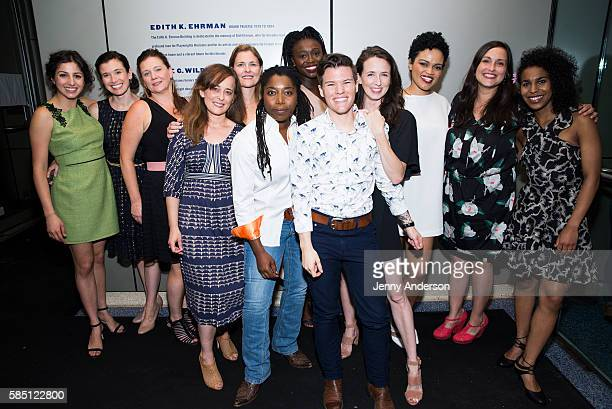 Will Davis and the cast of Men On Boats attend their opening at Playwrights Horizons on August 1 2016 in New York City