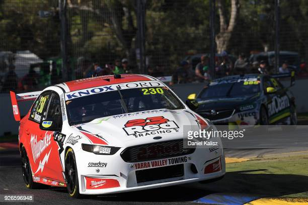 Will Davison drives the Milwaukee Racing Ford Falcon FGX during race 1 for the Supercars Adelaide 500 on March 2 2018 in Adelaide Australia