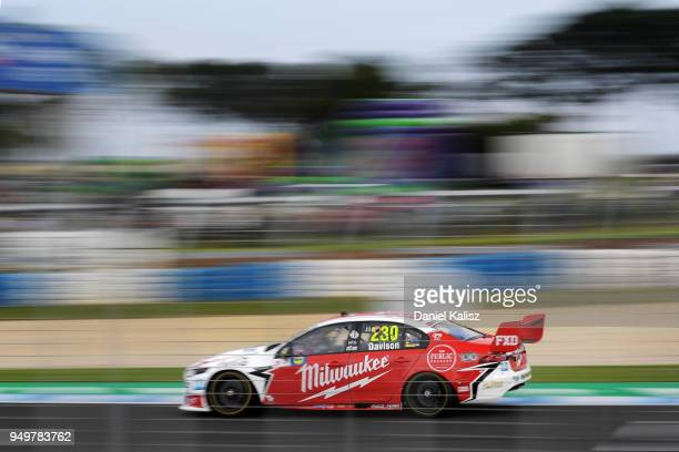 Will Davison drives the Milwaukee Racing Ford Falcon FGX during the Supercars Phillip Island 500 at Phillip Island Grand Prix Circuit on April 22...