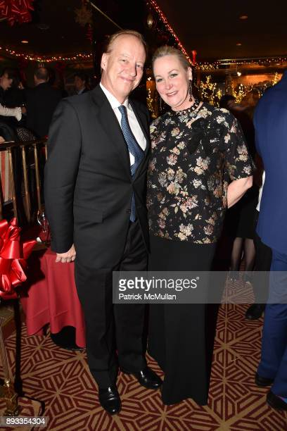 Will Denton and Sara Dodd attend A Christmas Cheer Holiday Party 2017 Hosted by George Farias Anne and Jay McInerney at The Doubles Club on December...