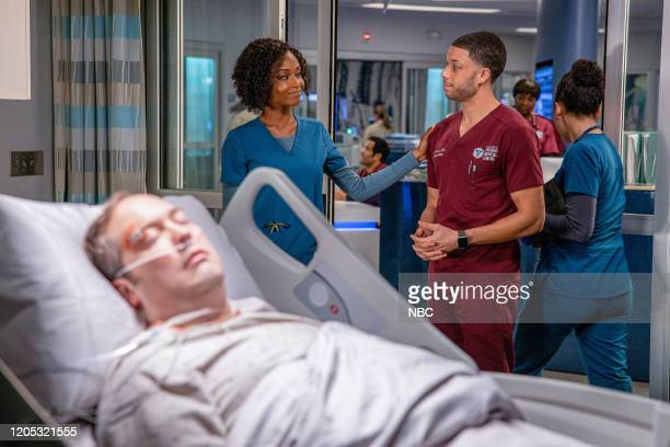 MED I Will Do No Harm Episode 515 Pictured Yaya DaCosta as April Sexton Roland Buck III as Dr Noah Sexton