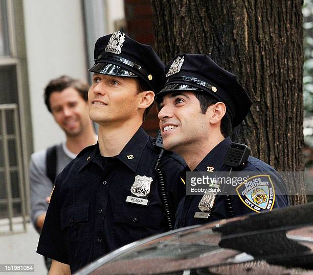 Will Estes and Sebastian Sozzi on location for Blue Bloods on September 4 2012 in New York City