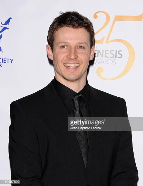 Will Estes arrives at the 25th Anniversary Genesis Awards hosted by the Humane Society of the United States held at the Hyatt Regency Century Plaza...