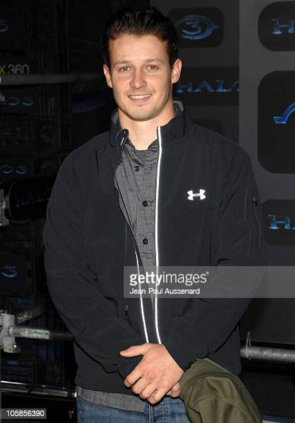Will Estes during Xbox 360 Halo 3 Sneak Preview Arrivals at Quixote Studios in West Hollywood California United States