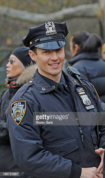 Will Estes filming on location for Blue Bloods on November 19 2012 in New York City
