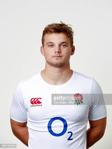 Will Evans of England poses for a portrait during the England Elite Player Squad photo call at The Lensbury on August 7 2016 in Teddington England